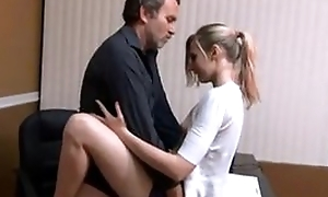 Small knockers babe quickie fuck with daddy